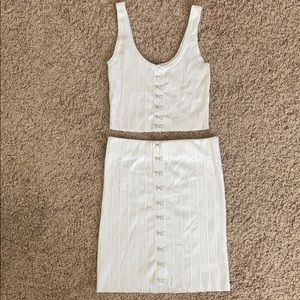 Two piece forever 21 top and skirt